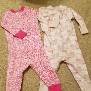 2 pair of Hanna Andersson one piece pajamas